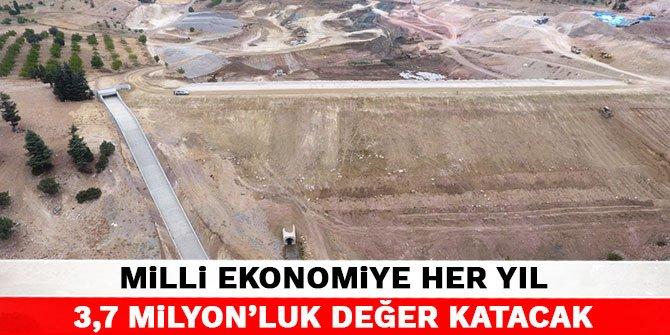 Kahramanmaraş'taki Gölet Milli Ekonomiye her yıl 3,7 milyon'luk değer katacak