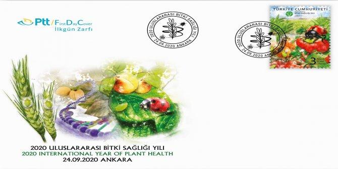 """PTT'den """"2020 Uluslararası Bitki Sağlığı Yılı"""" konulu anma pulu"""