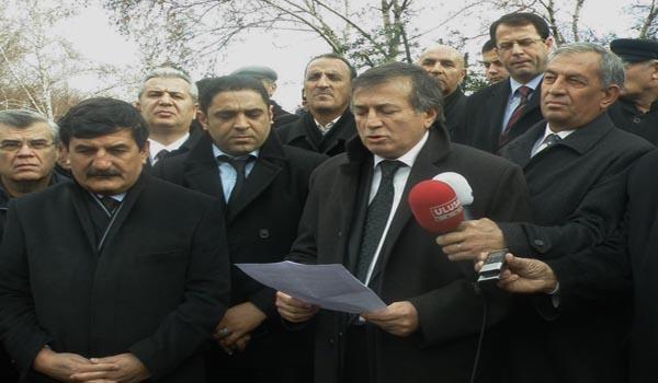 MARAŞ YASAĞINA MECLİS ÖNÜNDE PROTESTO