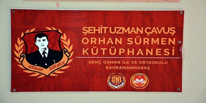 Şehit Orhan Sürmen'in ismi kütüphanede yaşatılacak