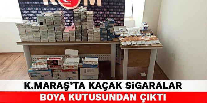 Kahramanmaraş'ta kaçak sigaralar boya kutusundan çıktı