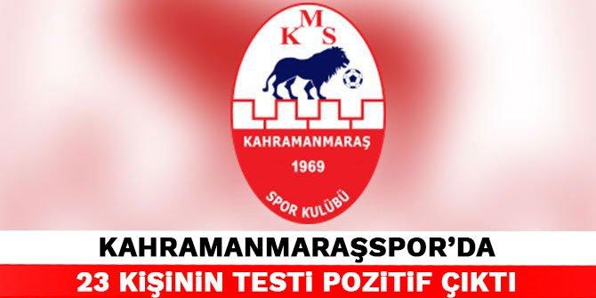 Kahramanmaraşspor'da 23 kişinin testi pozitif çıktı