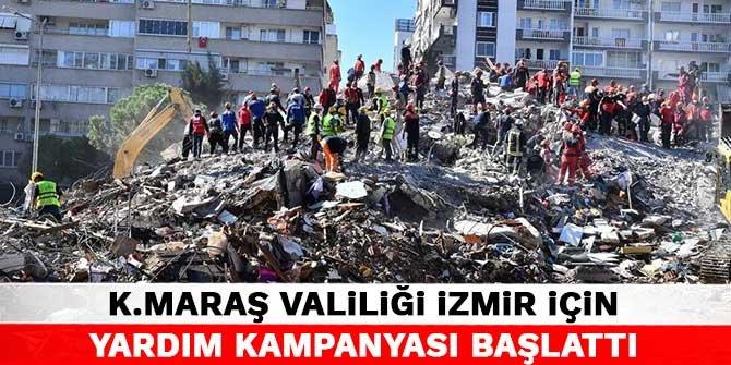 Kahramanmaraş Valiliği İzmir için yardım kampanyası başlattı