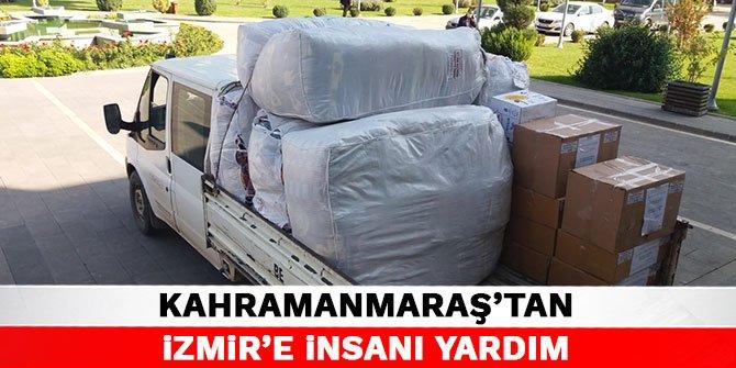 Kahramanmaraş'tan İzmir'e insanı yardım