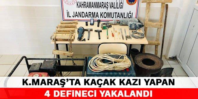 Kahramanmaraş'ta kaçak kazı yapan 4 defineci yakalandı