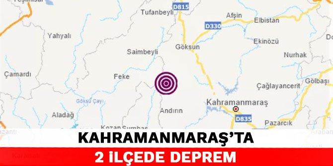 Kahramanmaraş'ta 2 ilçede deprem