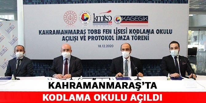 Kahramanmaraş'ta Kodlama Okulu açıldı