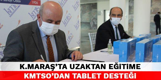 Kahramanmaraş'ta uzaktan eğitime KMTSO'dan tablet desteği