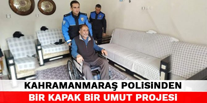 Kahramanmaraş polisinden Bir Kapak Bir Umut Projesi
