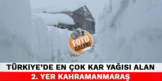 Türkiye'de en çok kar yağısı alan 2. yer Kahramanmaraş