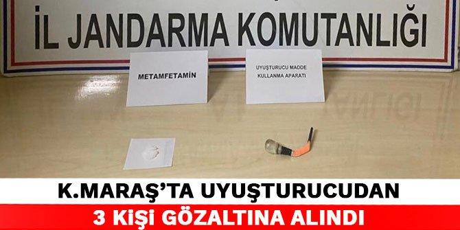 Kahramanmaraş'ta uyuşturucudan 3 kişi gözaltına alındı