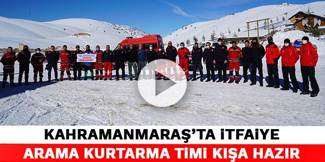 Kahramanmaraş'ta İtfaiye Arama Kurtarma Timi kışa hazır