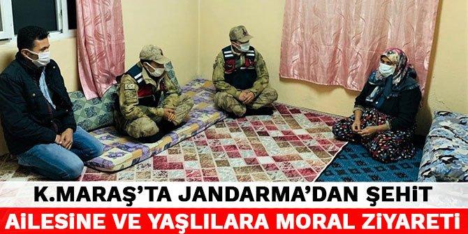 Kahramanmaraş'ta jandarma'dan şehit ailesine ve yaşlılara moral ziyareti