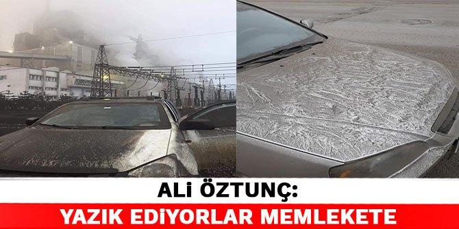 Ali Öztunç, çevre kirliliğinin fotoğrafını paylaştı