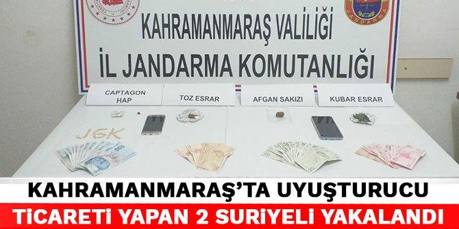 Kahramanmaraş'ta uyuşturucu ticareti yapan 2 Suriyeli yakalandı