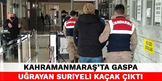 Kahramanmaraş'ta gaspa uğrayan Suriyeli kaçak çıktı