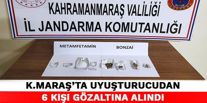 Kahramanmaraş'ta uyuşturucudan 6 kişi gözaltına alındı