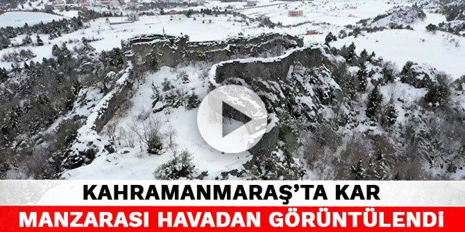 Kahramanmaraş'ta kar manzarası havadan görüntülendi