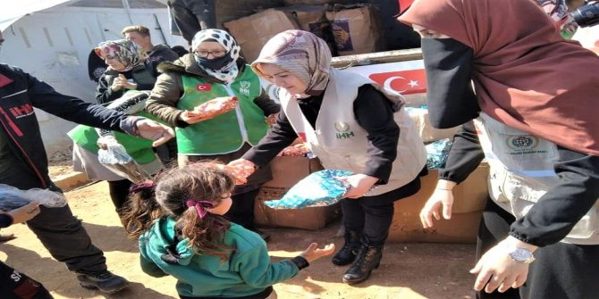 İHH Kadın Kolları'ndan İdlib'e yardım ziyareti