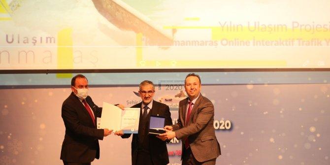 Kahramanmaraş Büyükşehir'e yılın ulaşım projesi ödülü