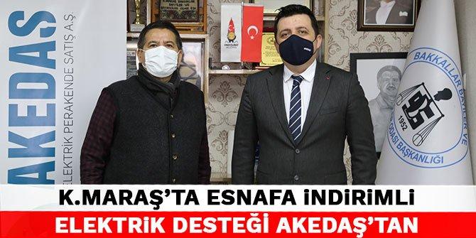 Kahramanmaraş'ta esnafa indirimli elektrik desteği Akedaş'tan