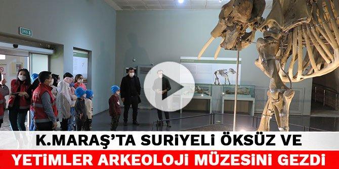 Kahramanmaraş'ta Suriyeli öksüz ve yetimler arkeoloji müzesini gezdi