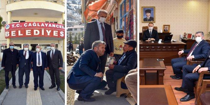 Yardımcıoğlu'ndan Çağlayancerit ziyareti