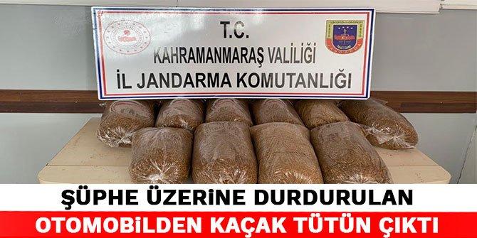Kahramanmaraş'ta şüphe üzerine durdurulan otomobilden kaçak tütün çıktı