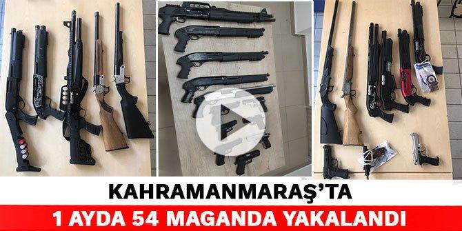Kahramanmaraş'ta 1 ayda 54 maganda yakalandı