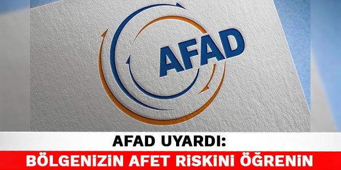 AFAD uyardı: Bölgenizin afet riskini öğrenin