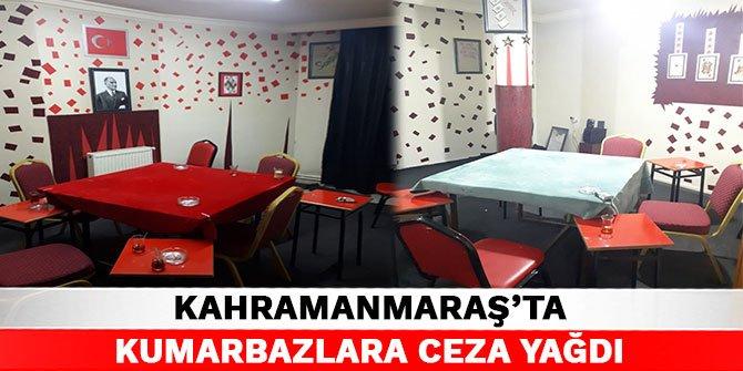 Kahramanmaraş'ta kumarbazlara ceza yağdı
