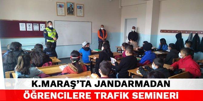 Kahramanmaraş'ta jandarma'dan öğrencilere trafik semineri