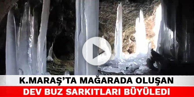 Kahramanmaraş'ta mağarada oluşan dev buz sarkıtları büyüledi