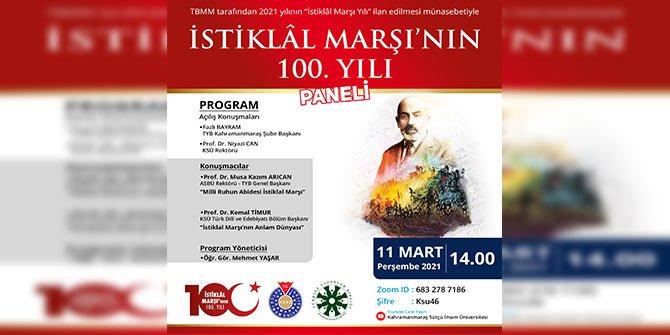 Kahramanmaraş'ta İstiklal Marşı'nın 100. yılı paneli