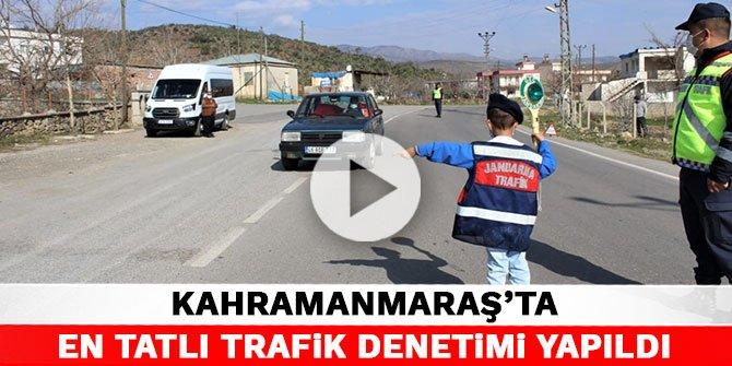 Kahramanmaraş'ta en tatlı trafik denetimi yapıldı