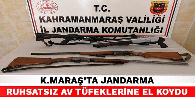 Kahramanmaraş'ta jandarma ruhsatsız av tüfeklerine el koydu