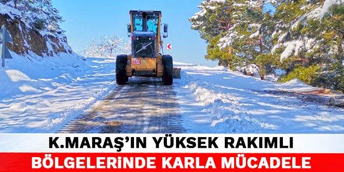 Kahramanmaraş'ın yüksek rakımlı bölgelerinde karla mücadele