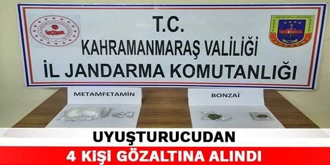 Kahramanmaraş'ta uyuşturucudan 4 kişi gözaltına alındı