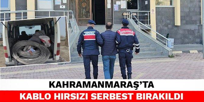 Kahramanmaraş'ta kablo hırsızı serbest bırakıldı