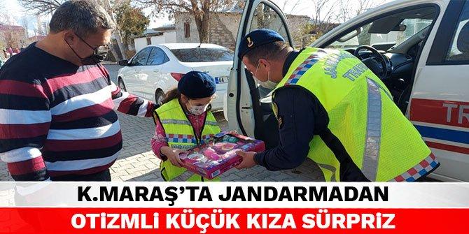 Kahramanmaraş'ta jandarma'dan otizmli küçük kıza sürpriz