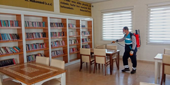 Kahramanmaraş'ta müze ve kütüphaneler dezenfekte edildi