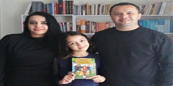 9 yaşındaki Ebrar, pandemi döneminde kitap yazdı