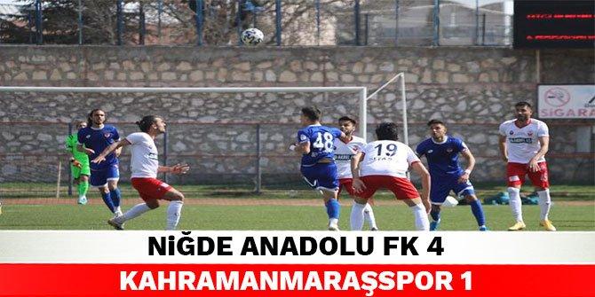 Niğde Anadolu FK 4 Kahramanmaraşspor 1