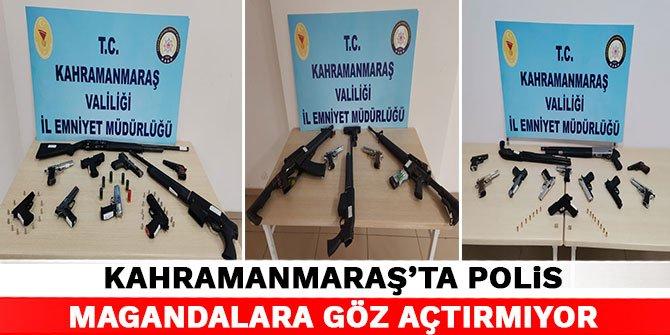 Kahramanmaraş'ta polis magandalara göz açtırmıyor