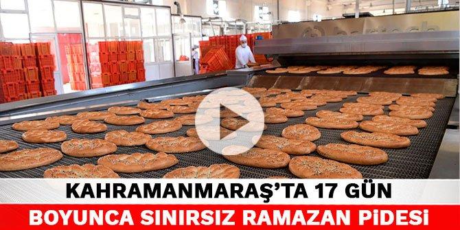 Kahramanmaraş'ta 17 gün boyunca sınırsız Ramazan pidesi