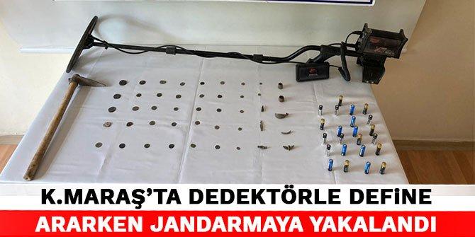 Kahramanmaraş'ta detektörle define ararken jandarmaya yakalandı