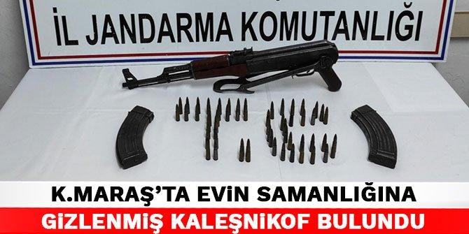 Kahramanmaraş'ta evin samanlığına gizlenmiş Kaleşnikof bulundu