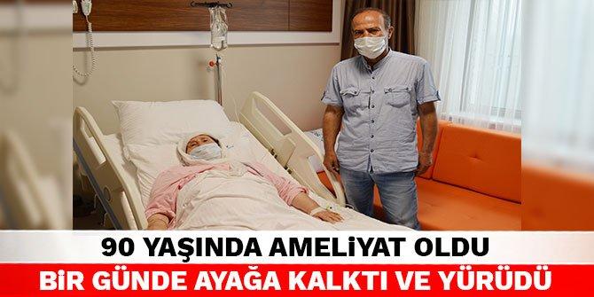 90 yaşında ameliyat oldu bir günde ayağa kalktı ve yürüdü