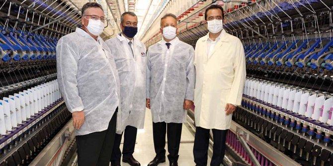 TİM Başkanı İsmail Gülle, SANKO Tekstil Tesislerini gezdi