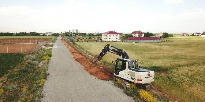 Afşin'deki Altunelma Mahallesine ilave şebeke hattı